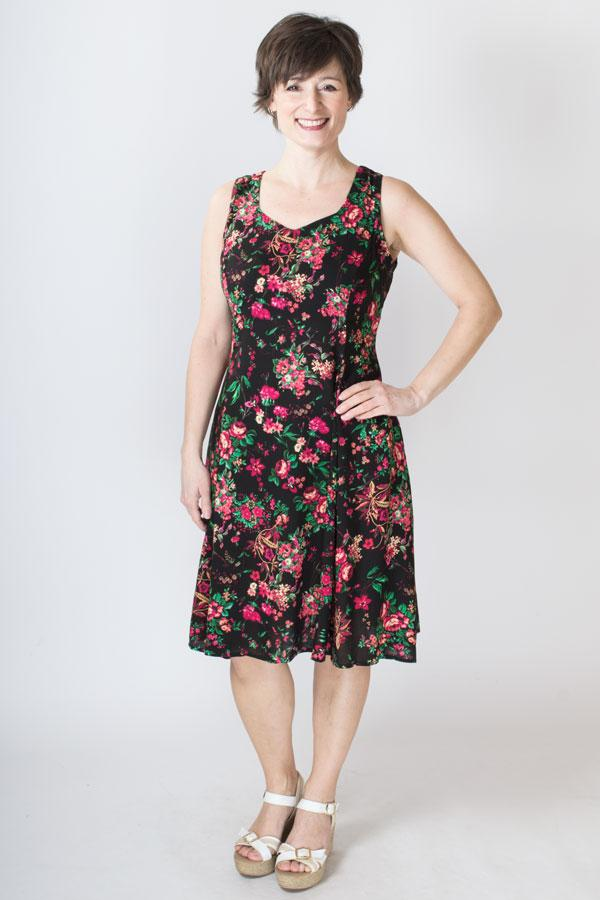 Sweet Sara Dress, Red Begonias - Blue Sky Clothing Co