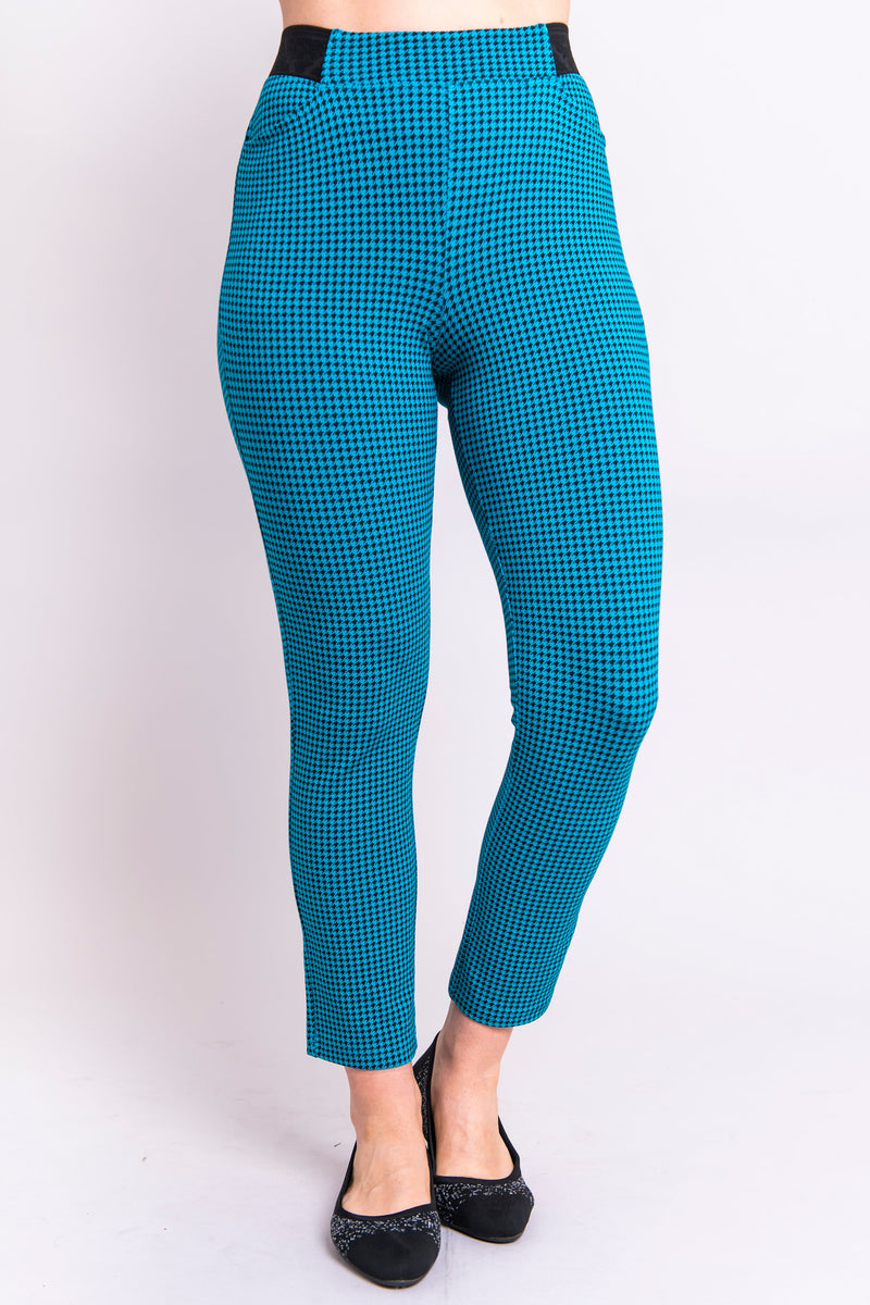 Satine Pant, Icicle Houndstooth, Bamboo - Blue Sky Clothing Co
