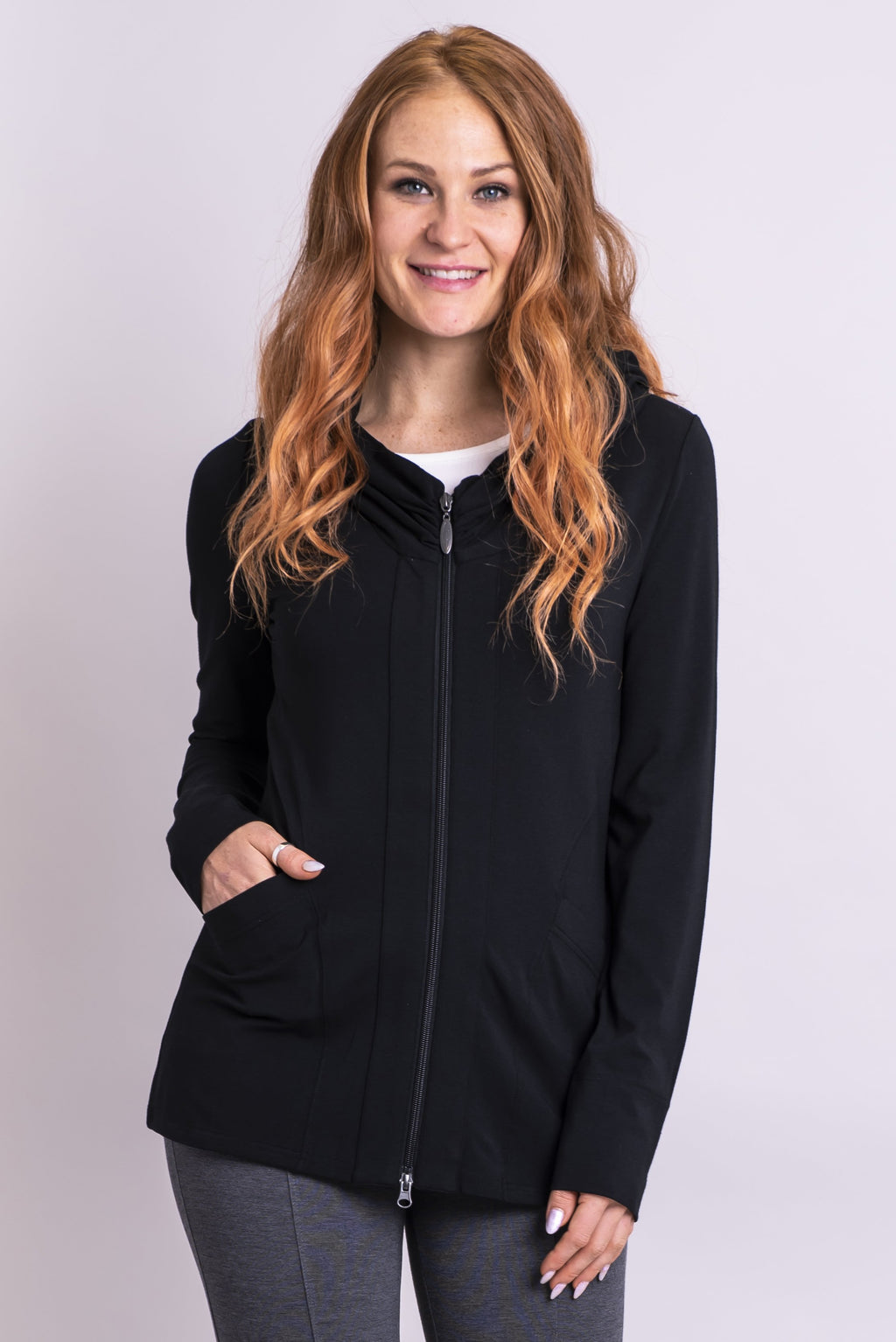 Seymour Jacket, Black, Bamboo - Blue Sky Clothing Co