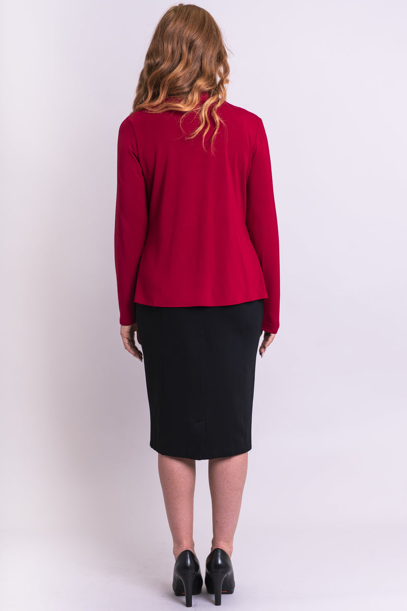 Sherry Long Sleeve, Lipstick , Bamboo - Blue Sky Clothing Co
