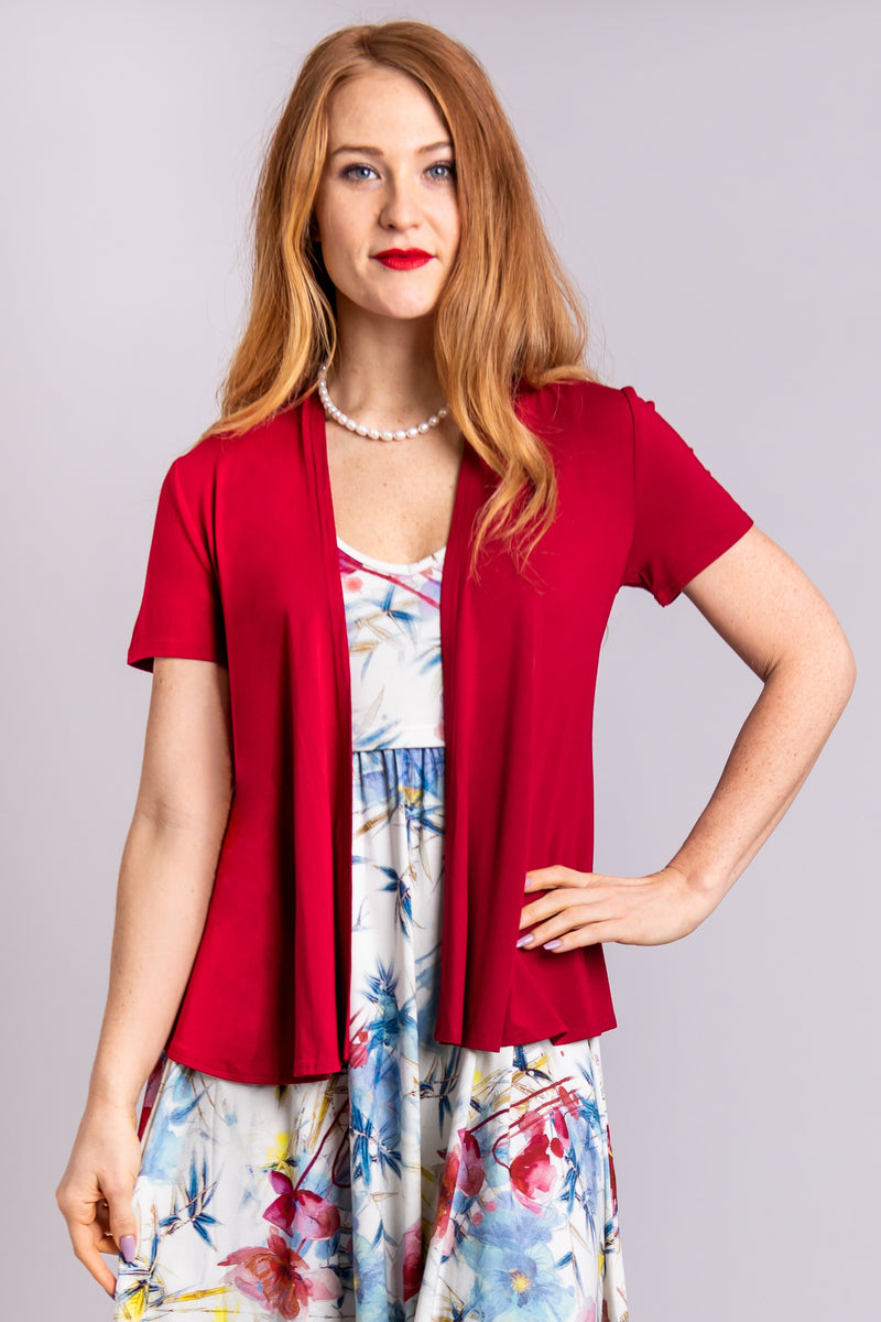 Sherry Jacket, Lipstick - Blue Sky Clothing Co