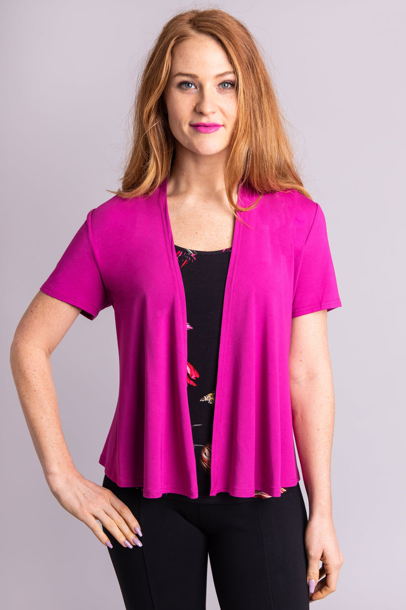 Sherry Jacket, Magenta, Bamboo - Blue Sky Clothing Co