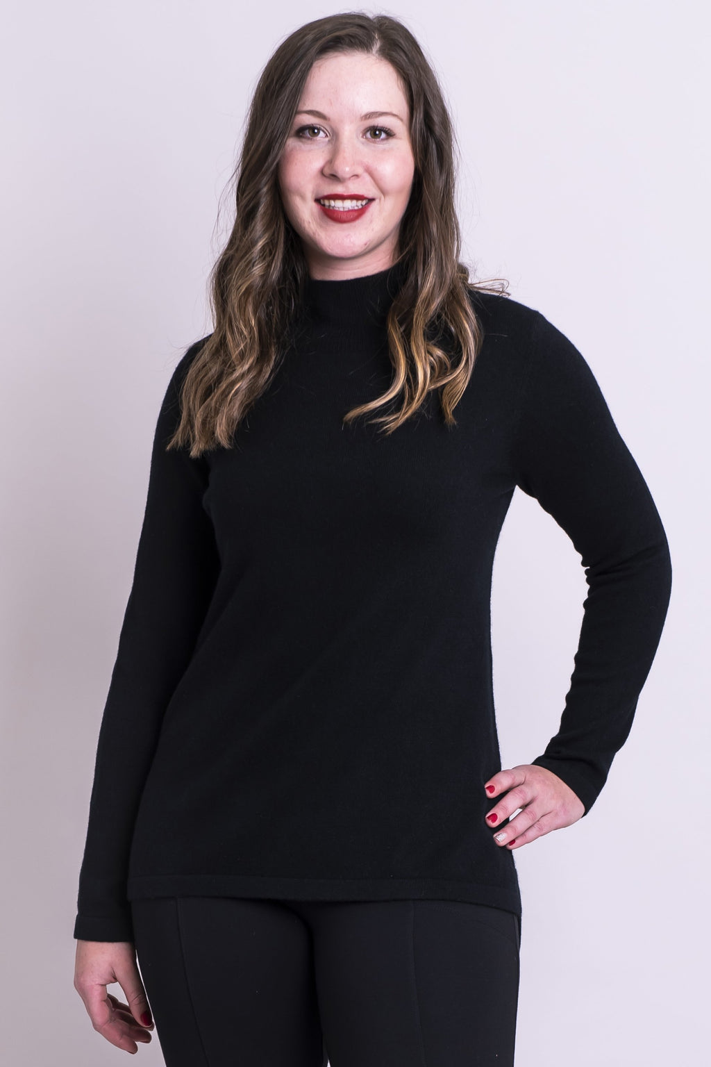 Simone Sweater, Onyx, Cashmere - Blue Sky Clothing Co