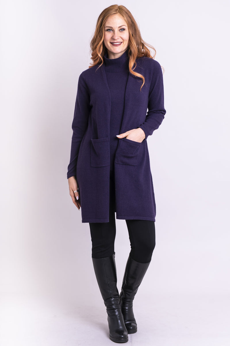 Slick Sweater, Amethyst, Cashmere - Blue Sky Clothing Co