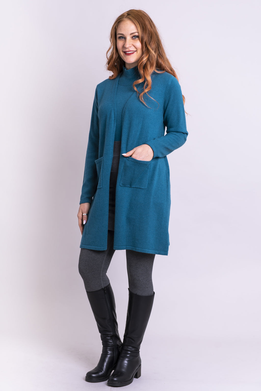 Slick Sweater, Jade, Cashmere - Blue Sky Clothing Co