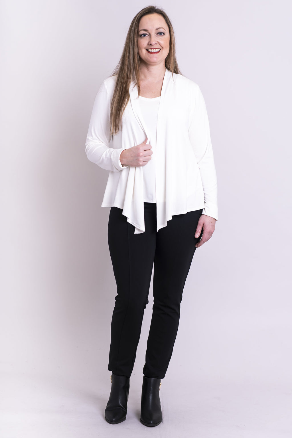 Snooky Jacket, White, Bamboo - Blue Sky Clothing Co