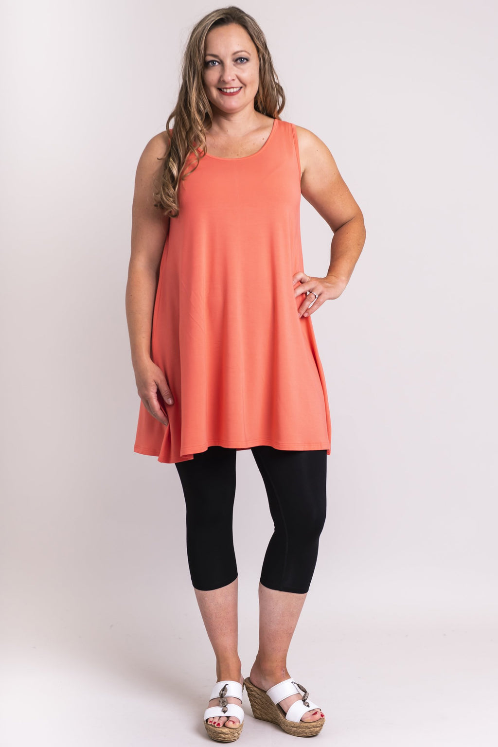 Spirit Dress, Coral, Bamboo Modal