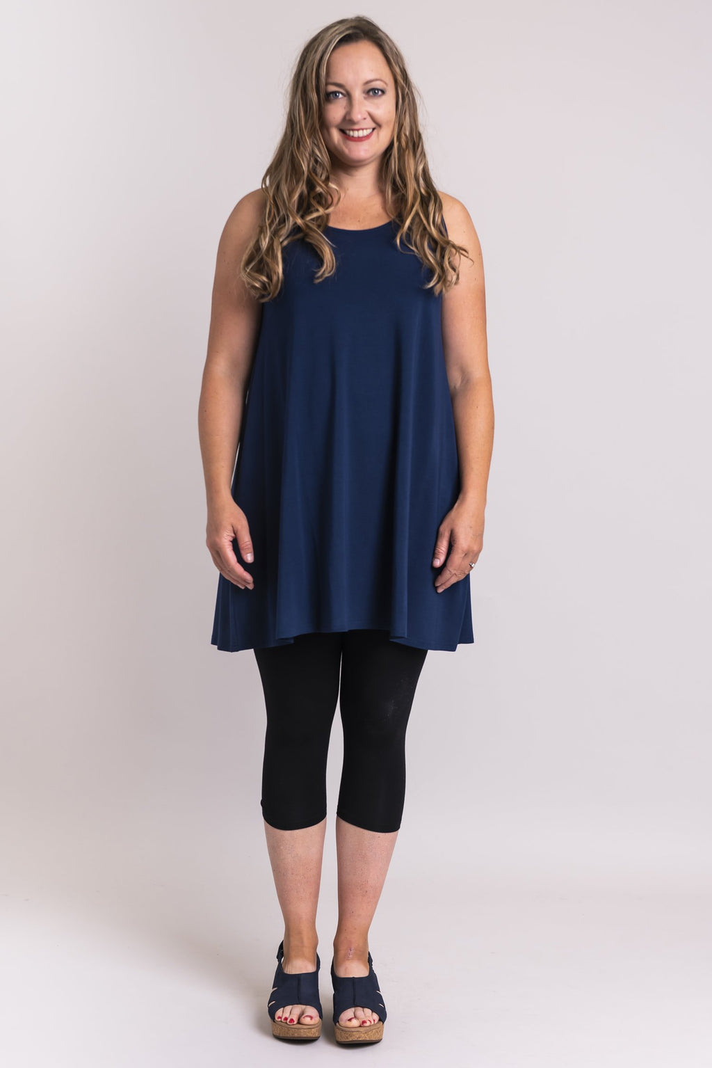 Spirit Dress, Indigo, Bamboo Modal