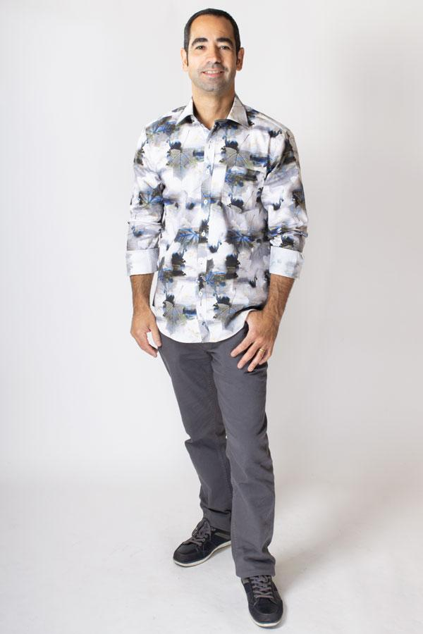 Stephano Shirt, Morning Walk, Cotton - Blue Sky Clothing Co