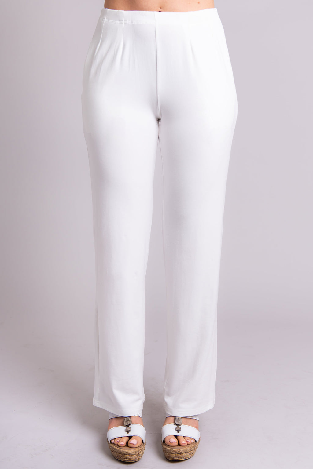 Susan Pant, White, Bamboo - Blue Sky Clothing Co
