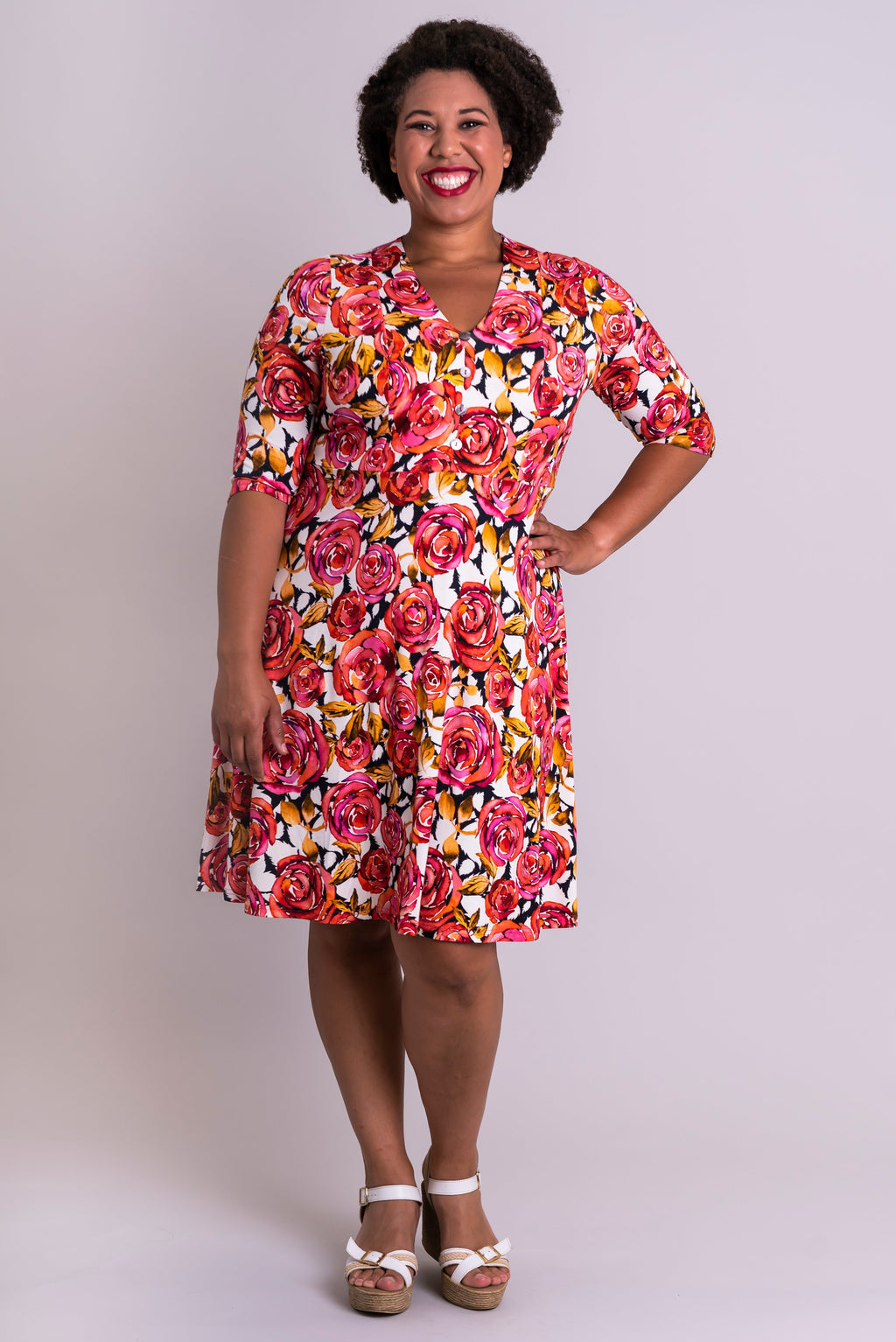 Sydney Dress, Briar Beauty, Bamboo - Blue Sky Clothing Co