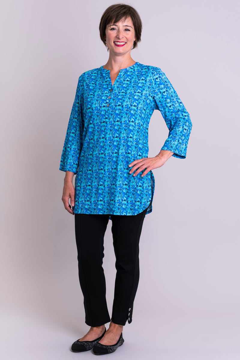 Tara Blouse, Super Pontiac, Linen Bamboo - Blue Sky Clothing Co