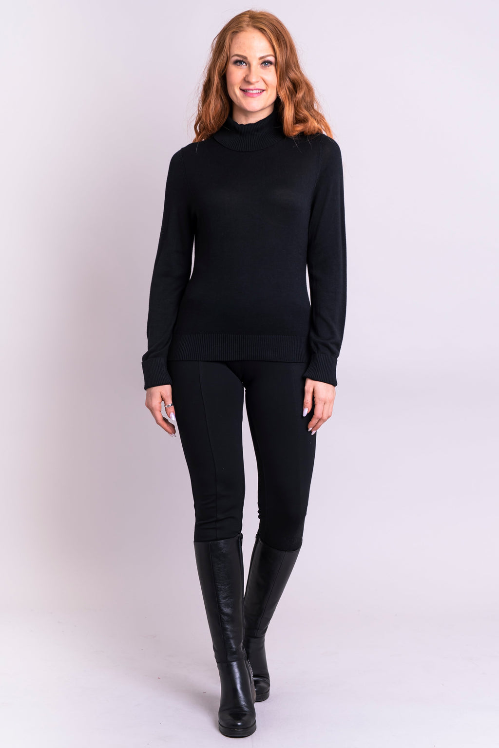 Taylor Sweater, Black, Bamboo Cotton - Blue Sky Clothing Co