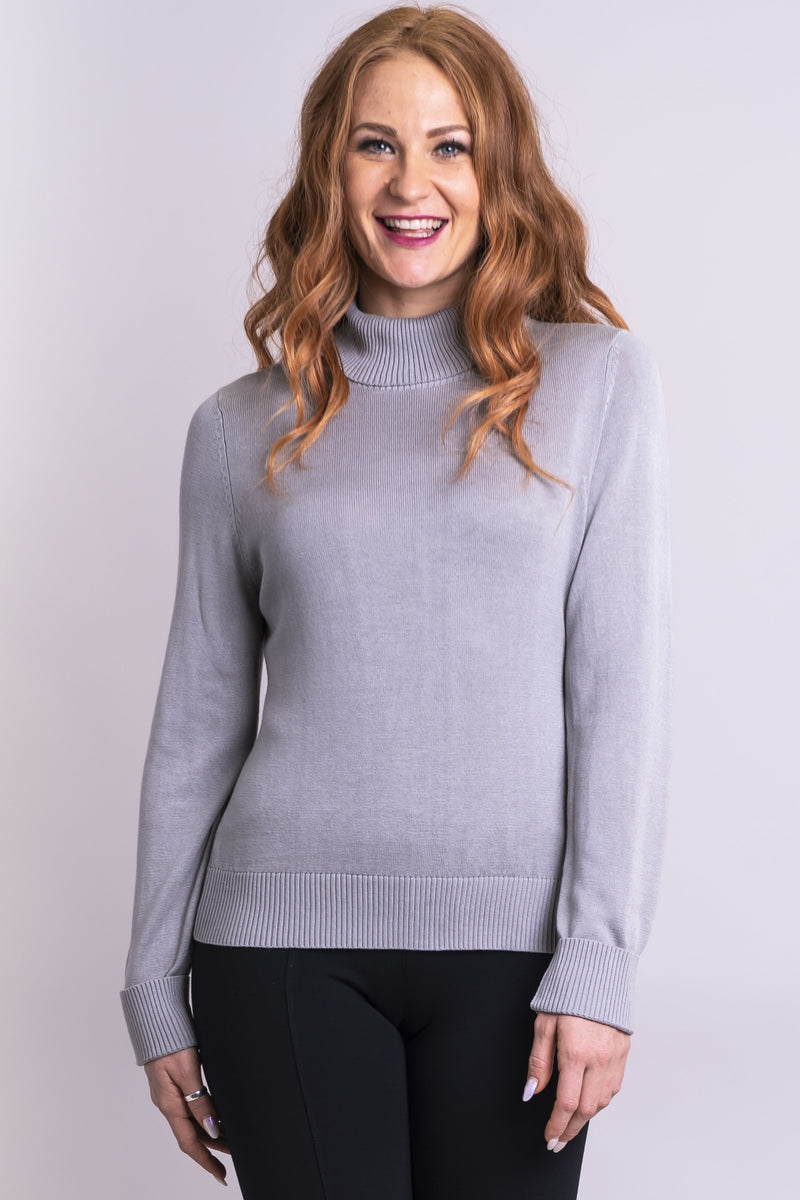 Taylor Sweater, Grey Ice, Bamboo Cotton - Blue Sky Clothing Co
