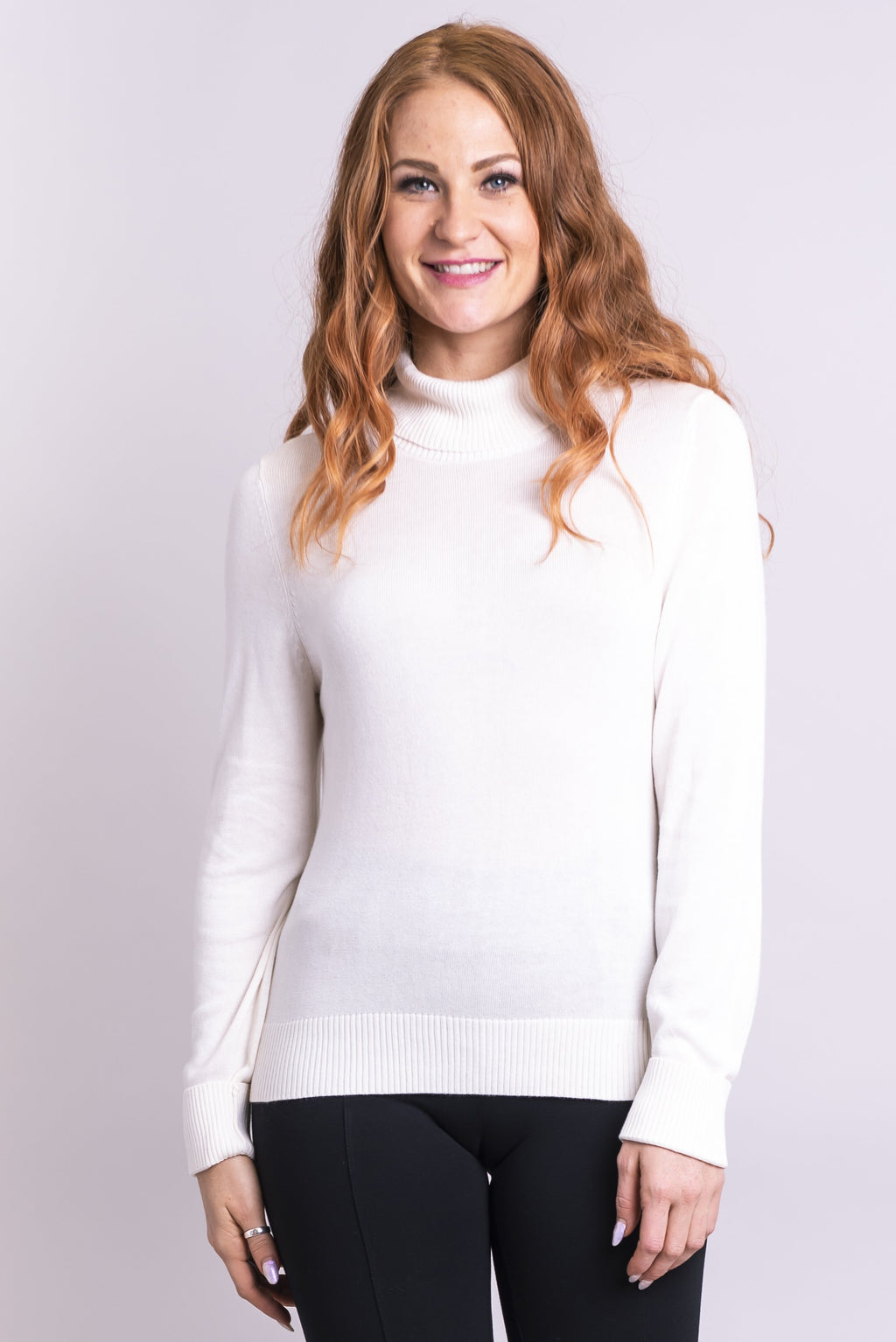 Taylor Sweater, White, Bamboo Cotton - Blue Sky Clothing Co