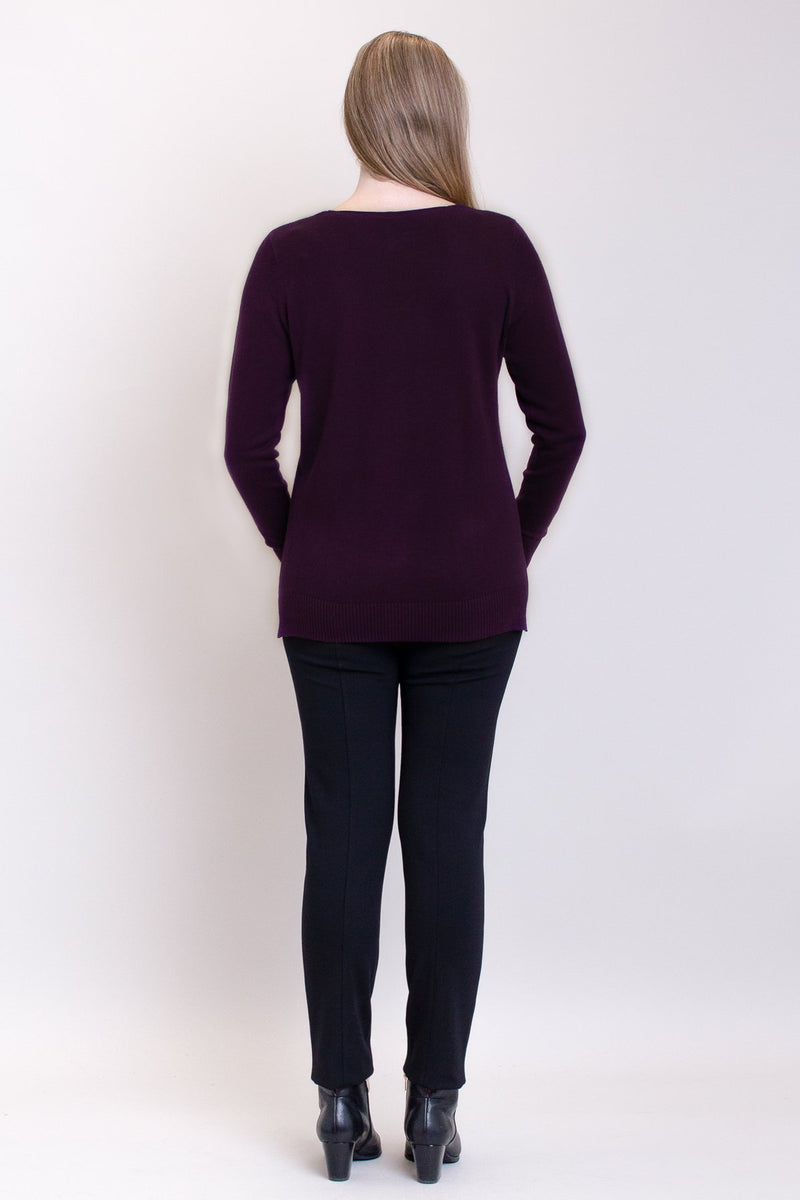 Tiff Sweater, Royale, Bamboo Cotton