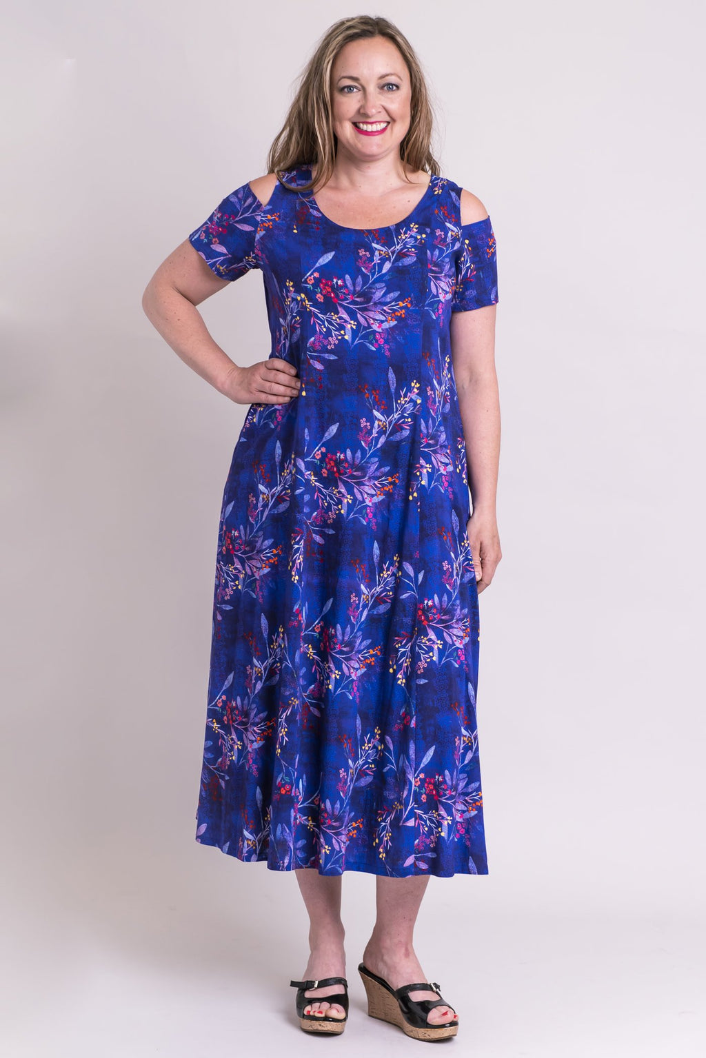 Trina Dress, Violetta, Linen Bamboo - Blue Sky Clothing Co