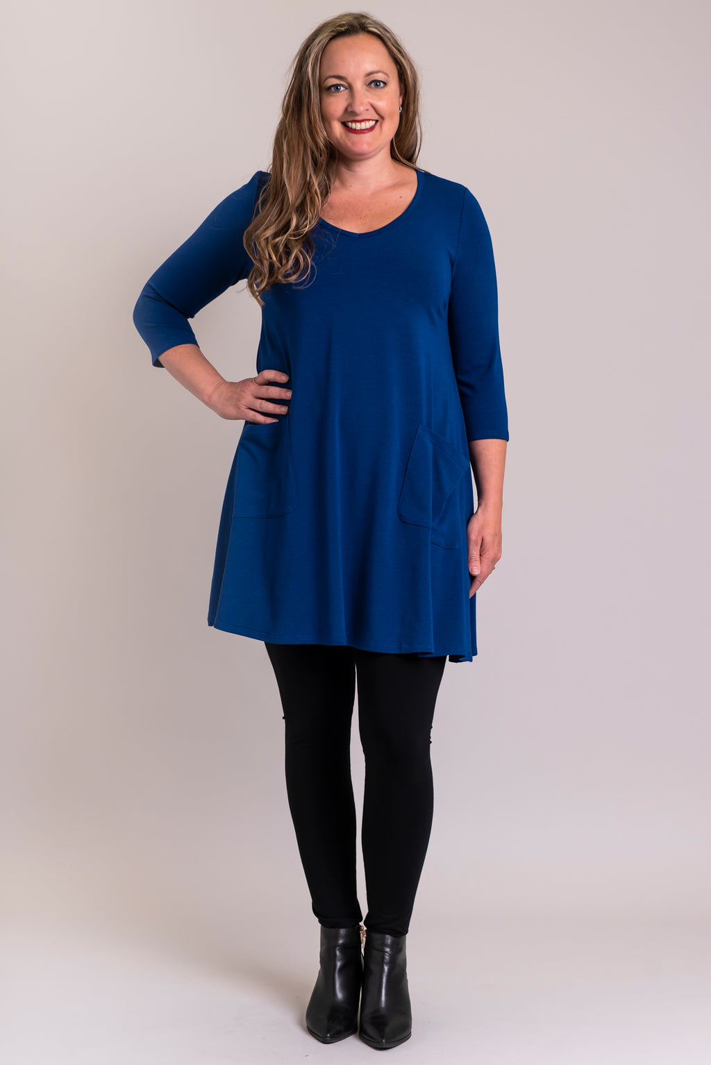 Veronica Tunic, Lapis, Bamboo - Blue Sky Clothing Co