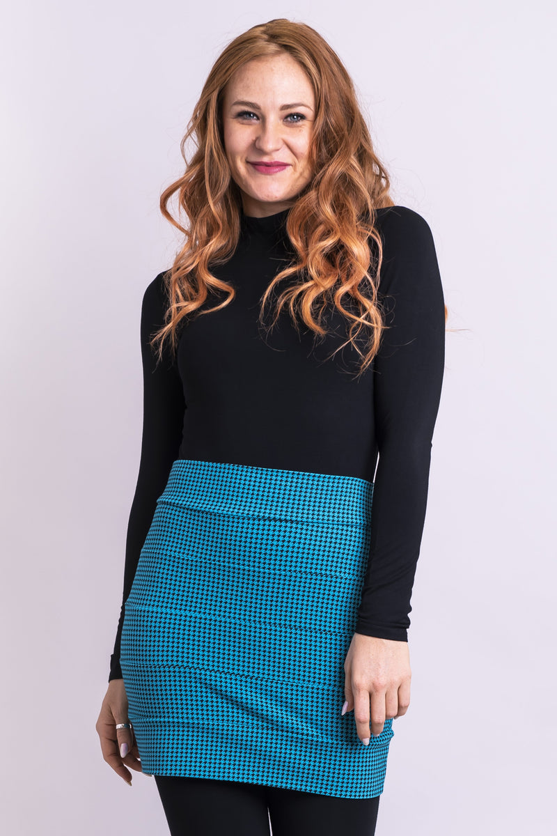 Whistler Skirt, Icicle Houndstooth, Bamboo - Blue Sky Clothing Co