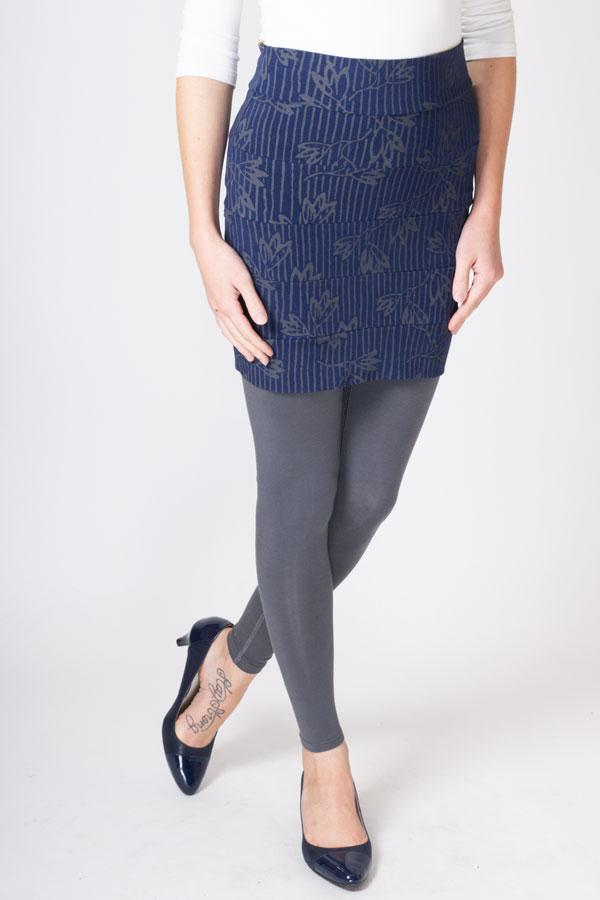 Whistler Skirt, Indigo/Grey Snowdrop - Blue Sky Clothing Co