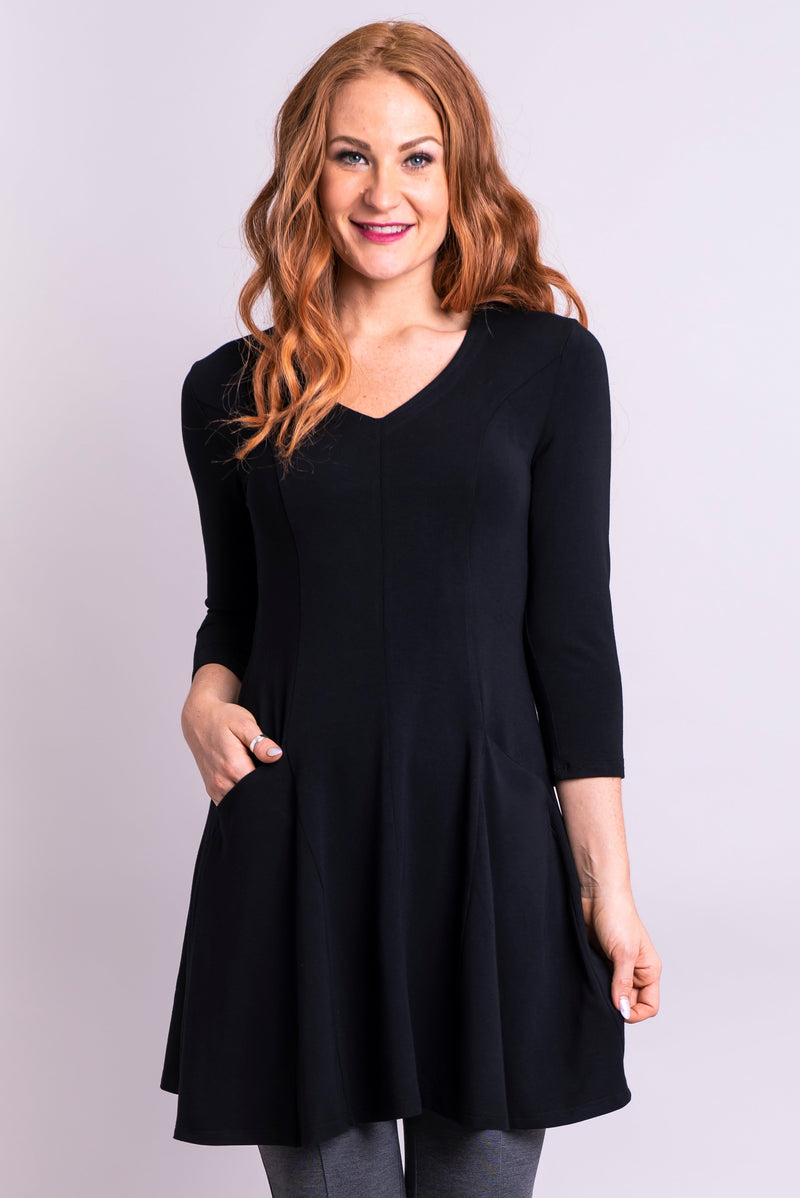 Wilma Tunic, Black - Blue Sky Clothing Co