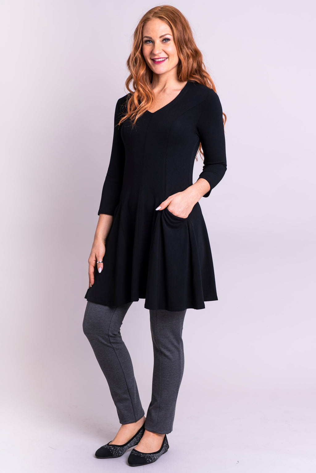 Wilma Tunic, Black, Bamboo - Blue Sky Clothing Co