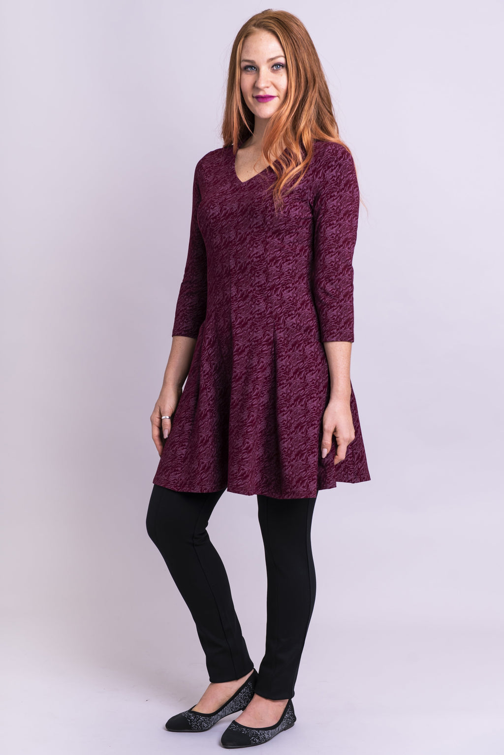 Wilma Tunic, Bordeaux Wine - Blue Sky Clothing Co