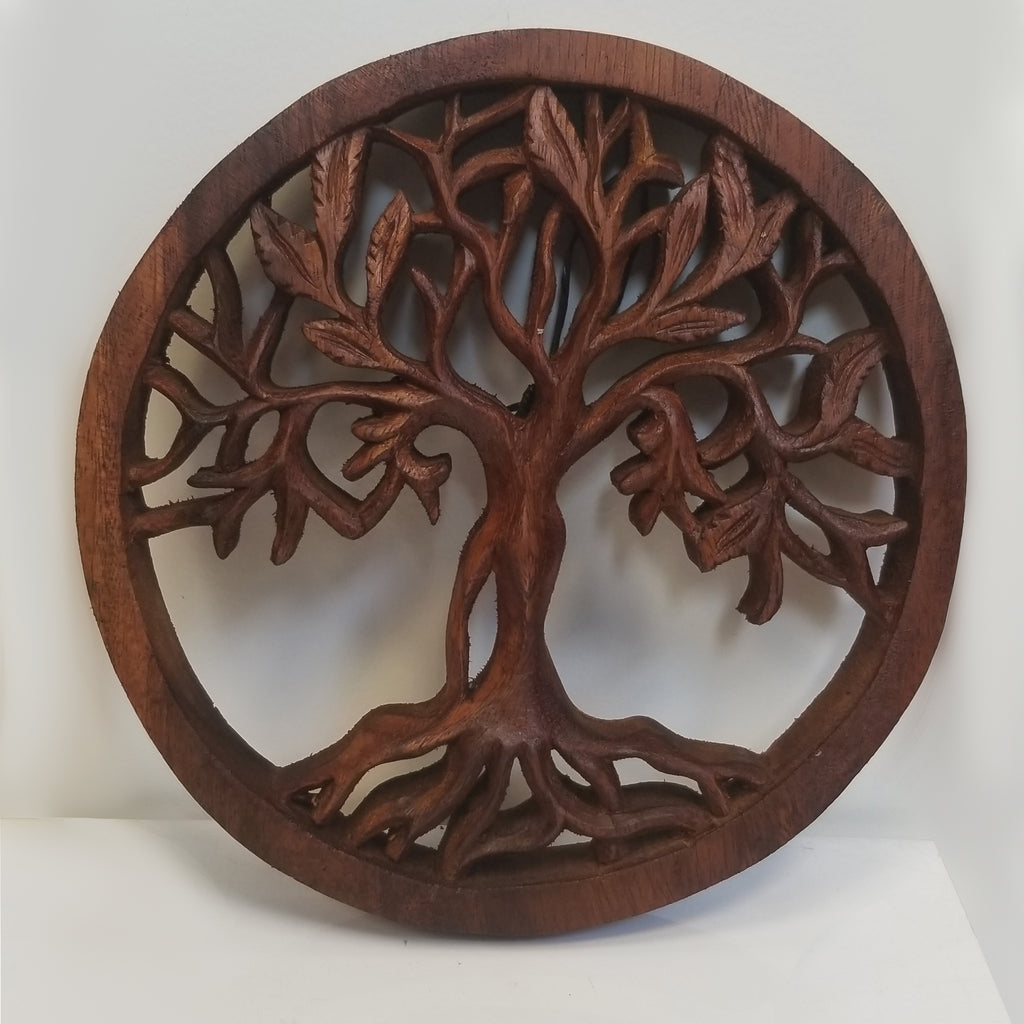 Hand-carved Wooden Tree of Life - Blue Sky Clothing Co