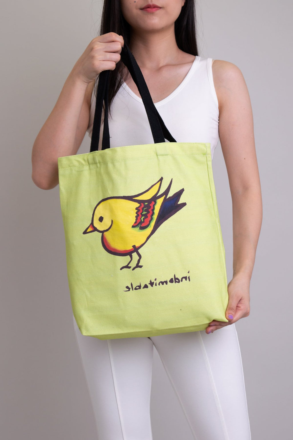 Artwork Totebag Green Heartbird