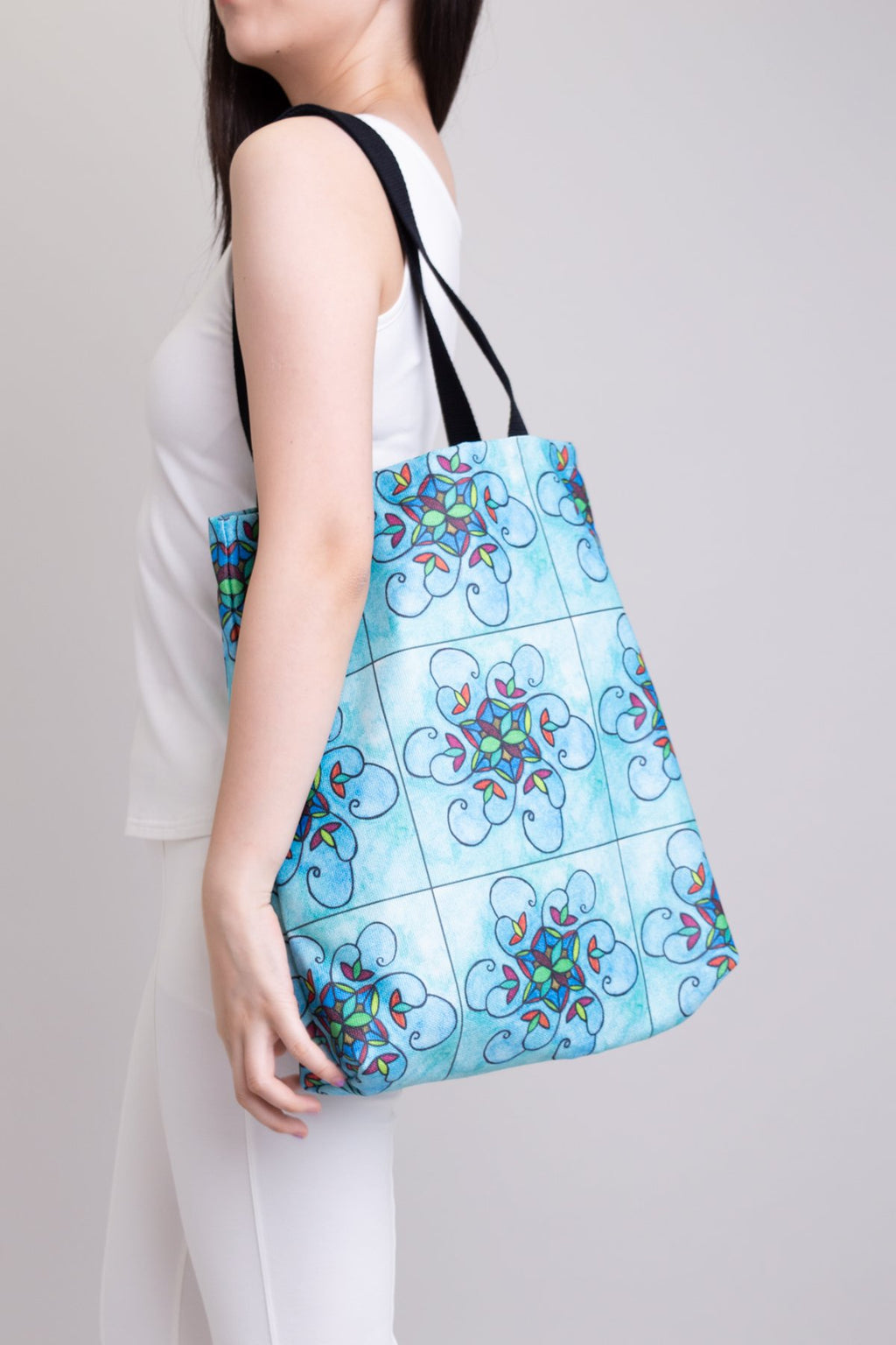 Artwork Totebag Turquoise Stain Glass