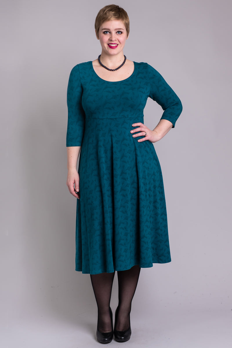 Stella Dress, Spruce Twigs, Bamboo - Blue Sky Clothing Co