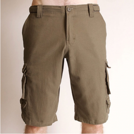 Cargo Shorts, Stone, Cotton - Blue Sky Clothing Co