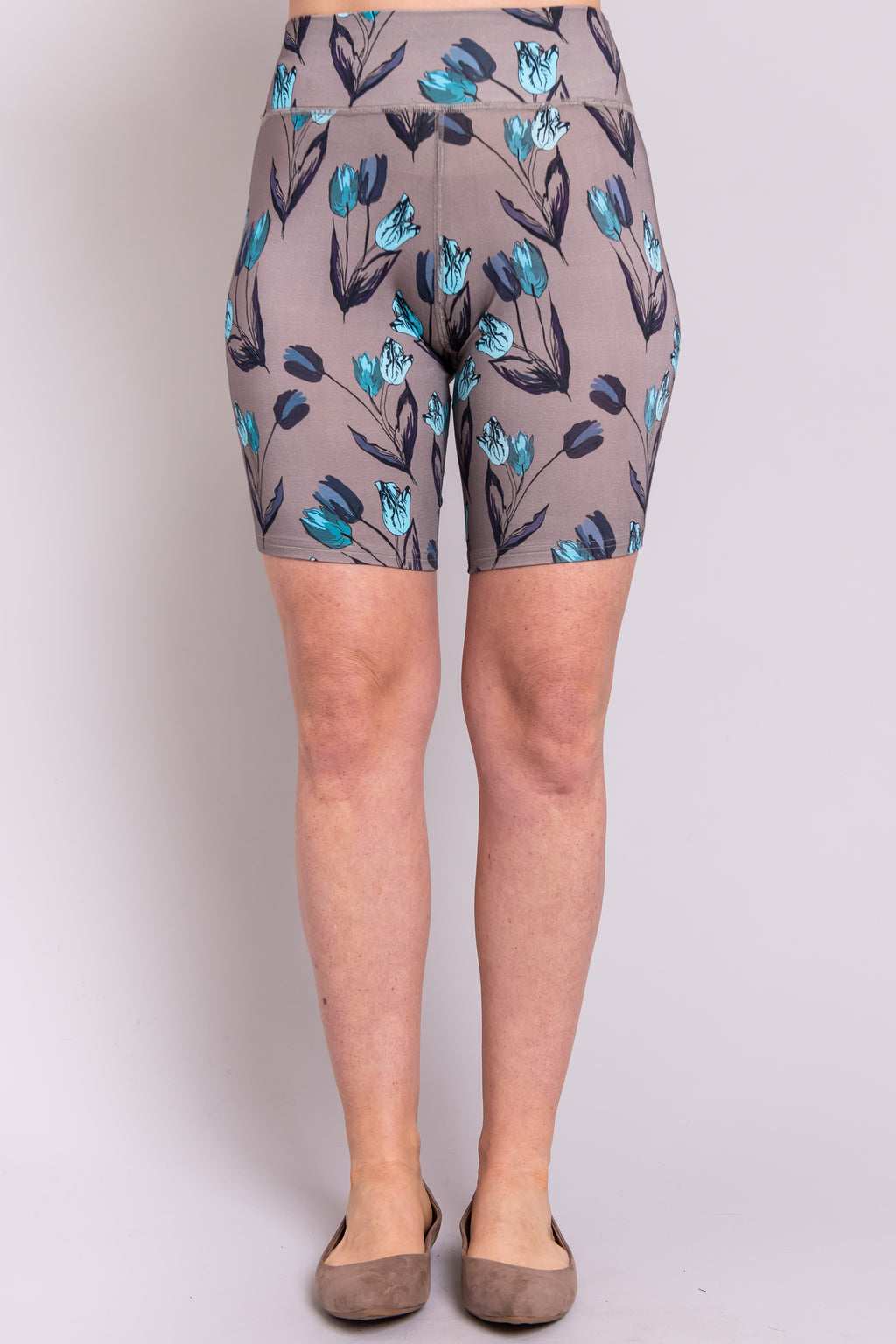 Hallie, Teal Tulips, Bamboo - Blue Sky Clothing Co