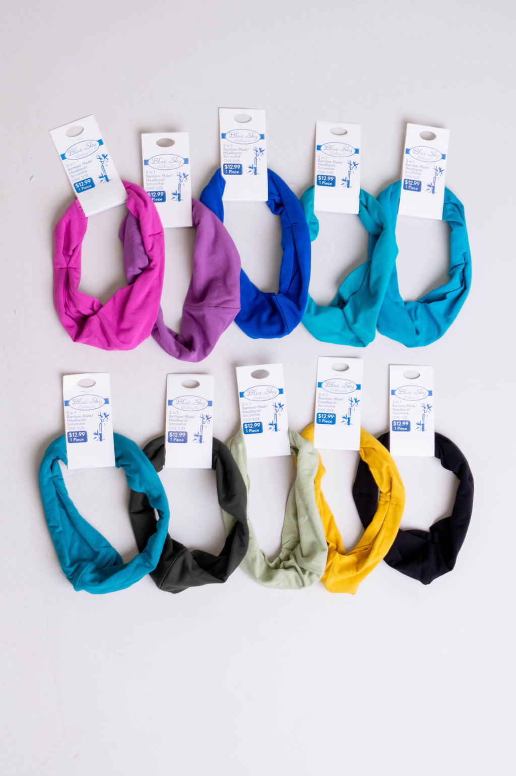 Combo 3-in-1 Mask Headband Scrunchie, Assorted colours