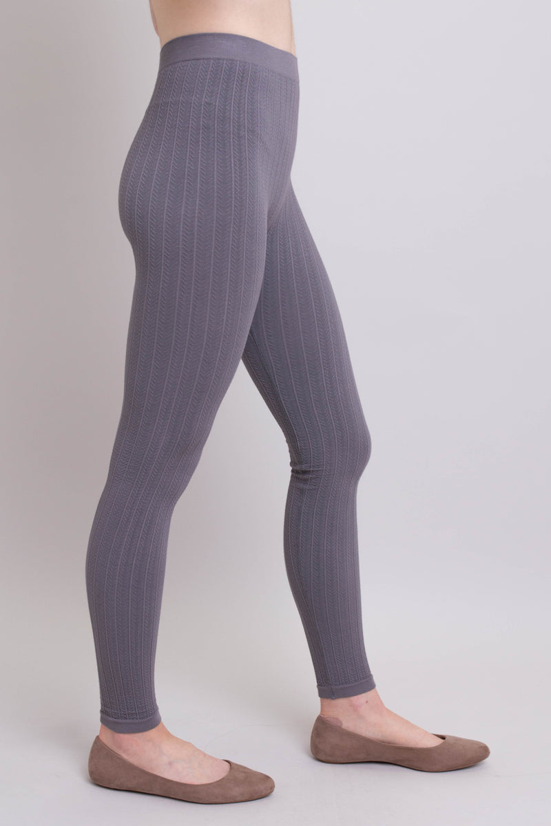 Peri Legging, Grey, Bamboo Cotton