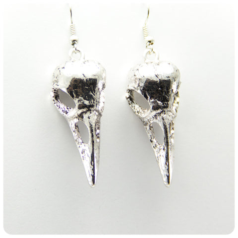 Crow Skull Earrings