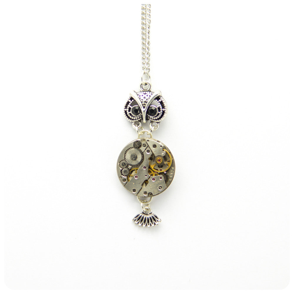 Clockwork Owl Necklace