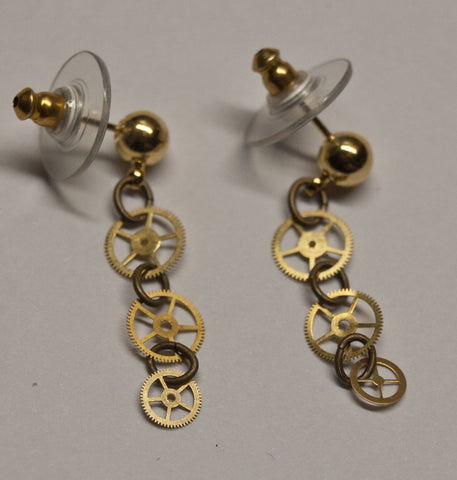 Triple Gear Earrings