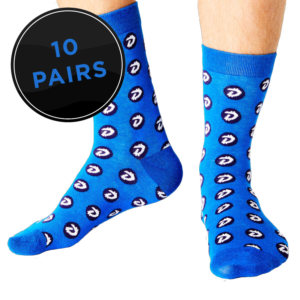 DigiByte Crew Fit Socks (Pack of 10)
