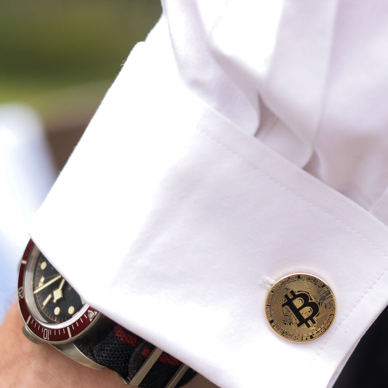 Bitcoin Gold Cufflinks