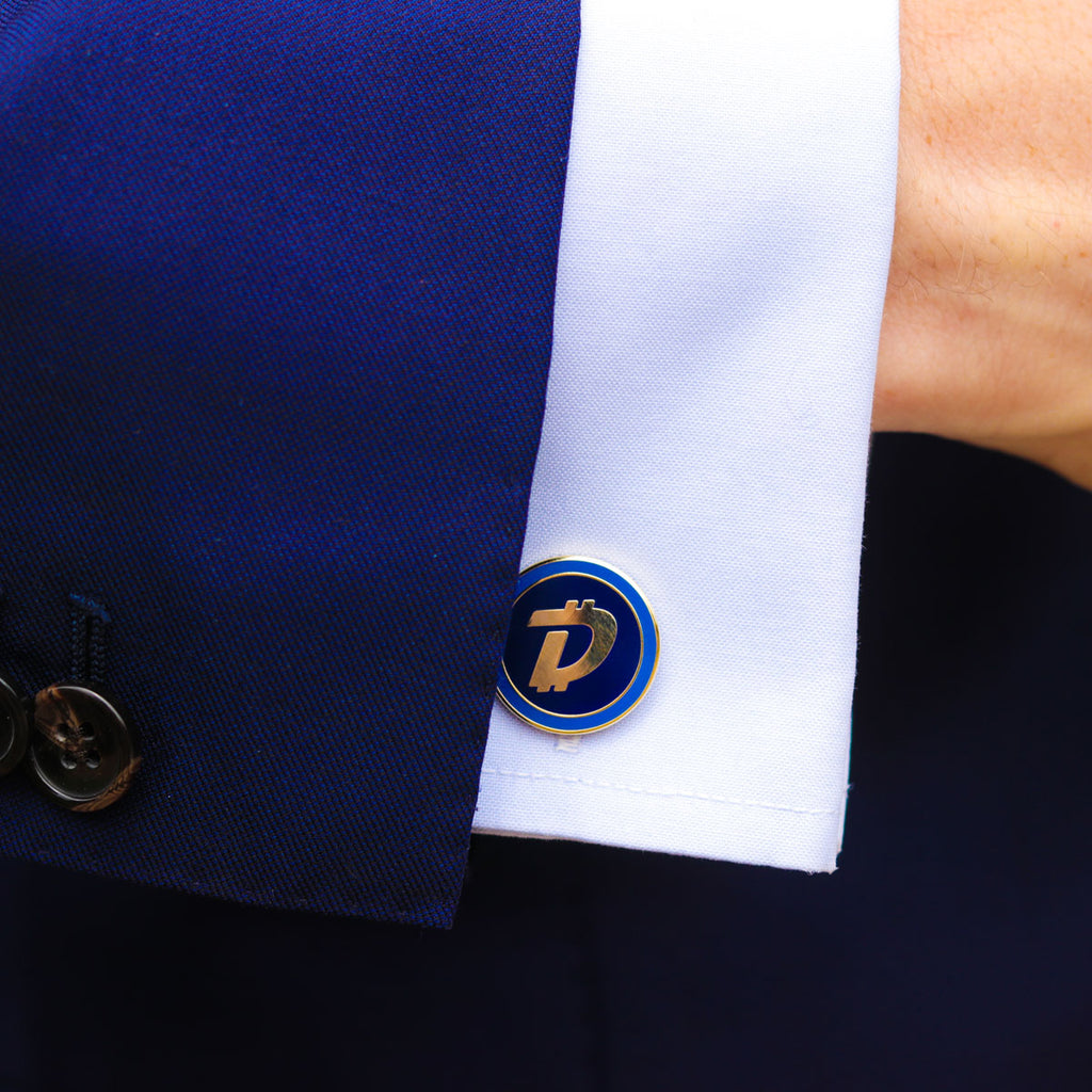 Kryptoez DigiByte Gold Cufflinks