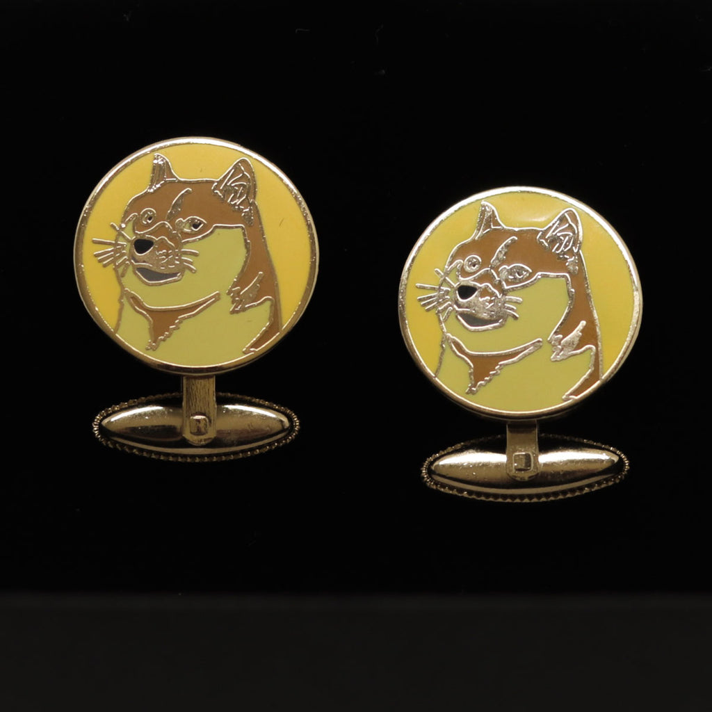 Kryptoez Dogecoin Gold Cufflinks
