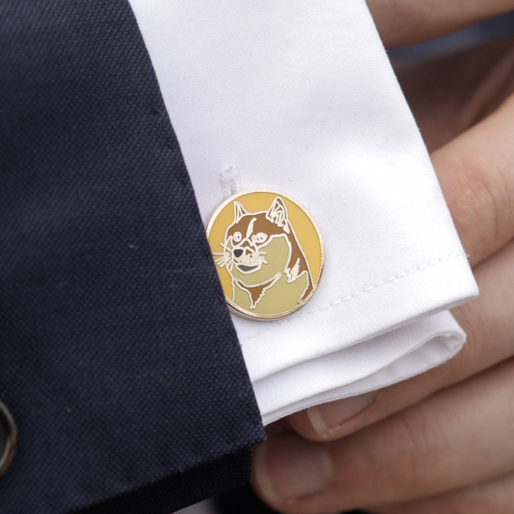 Dogecoin Gold Cufflinks