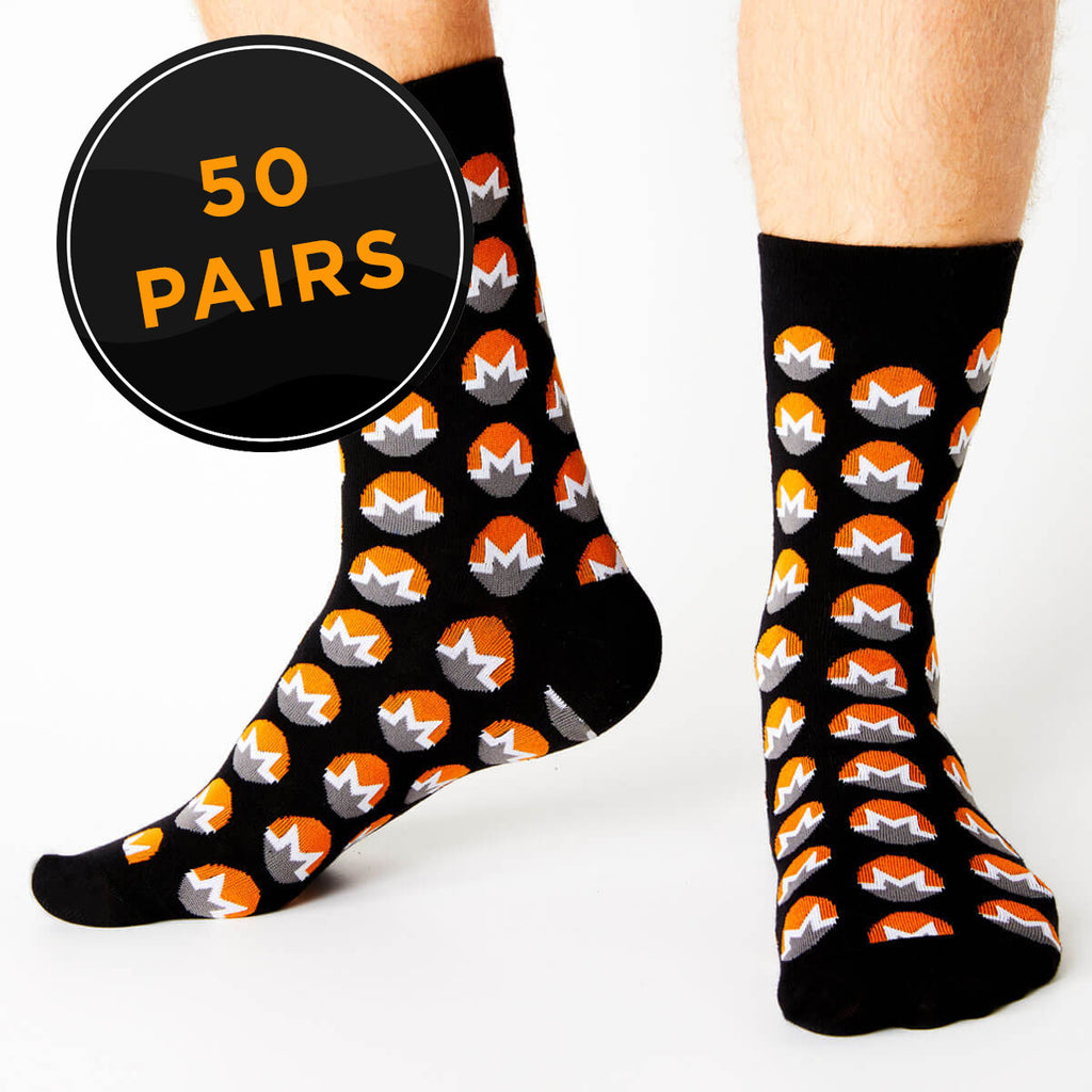 Monero Crew Fit Socks (Pack of 50)
