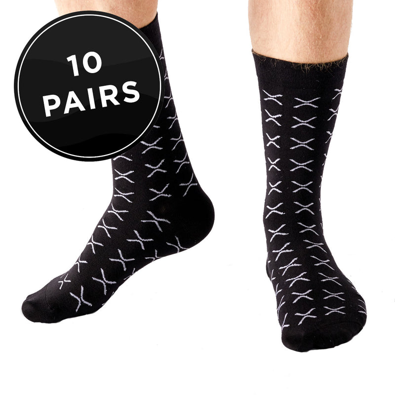 XRP (Ripple) Crew Fit Socks (Pack of 10)