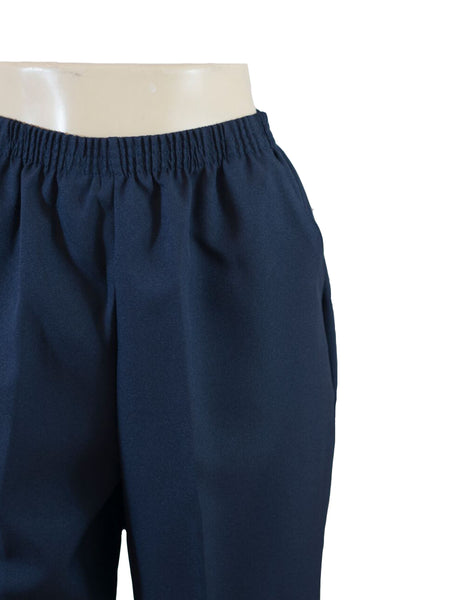 Women's Pull On Capri in Wholesale Packs. NAVY | Made in the USA. #4311