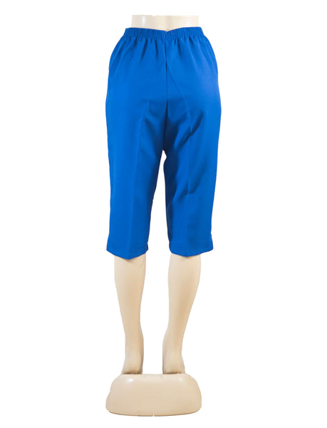 Women's Pull On Capri in Wholesale Packs. ROYAL BLUE | Made in the USA. #4311
