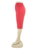 Women's Pull On Capri in Wholesale Packs. RED | Made in the USA. #4311