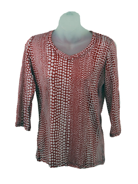Women's V Neck 3/4 Slv Blouses in Wholesale Packs. Print #135 | Made in the USA. #1137PR135