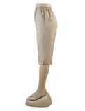 Women's Pull On Capri in Wholesale Packs. LIGHT BEIGE | Made in the USA. #4311